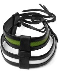 Giulia Boccafogli Jasmine Cage Large Leather Choker Necklace - Lyst