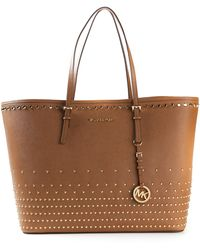 Michael by Michael Kors Jet Set Travel Studded Tote - Lyst