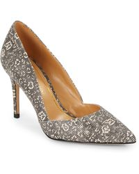 Enzo Angiolini Terasa Embossed Leather Point-Toe Pumps - Lyst