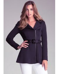 Bebe Colorblock Trench Coat - Lyst