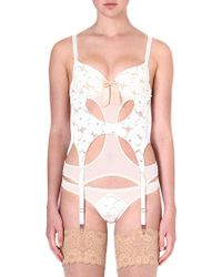 Lascivious Lucy Lace Basque Ivory - Lyst