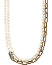 Lanvin - 22 Faubourg Alice Long Pearl Necklace - Lyst