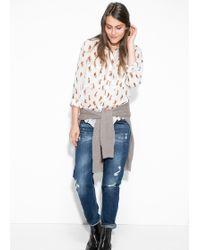 Mango Fox Print Shirt - Lyst