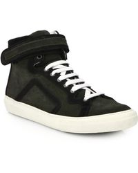 Pierre Hardy Suede High-Top Sneakers - Lyst