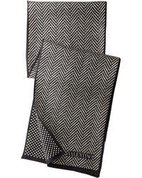 Valentino Herringbone Dot Silk Scarf - Lyst
