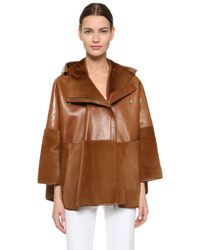 Prabal Gurung - Fur / Leather Cape - Lyst