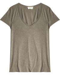 American Vintage Jacksonville T-Shirt gray - Lyst