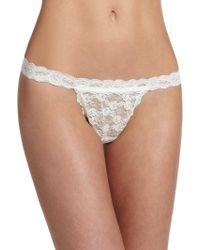 Hanky Panky Peek-A-Boo Babydoll With G-String white - Lyst