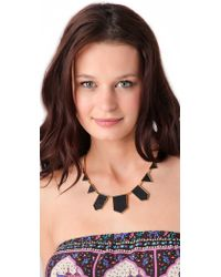House of Harlow 1960 - Station Leather Necklace - Lyst