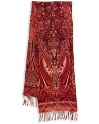 Lord & Taylor - Paisley Knit Scarf - Lyst