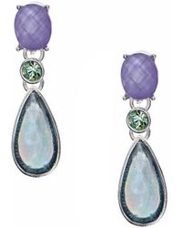 Anne Klein - Crystal Pendant Earrings - Lyst