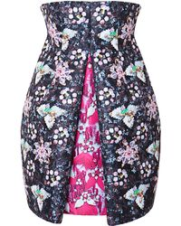 Mary Katrantzou Faby Hola Printed Satin-Twill Pleated Dress - Lyst