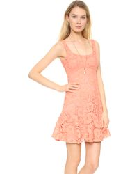 Nanette Lepore Summer Sheath Dress Coral - Lyst