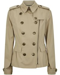 Burberry Brit Trench Jacket - Lyst