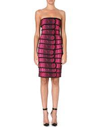 Christopher Kane Snakeprint Panelled Dress Pink - Lyst