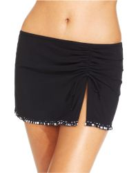 Gottex Ruched Self-Tie Printed Swim Skirt - Lyst