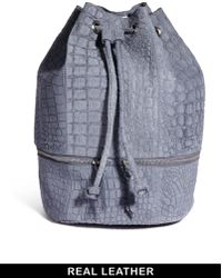 Asos Leather Backpack in Embossed Croc - Lyst