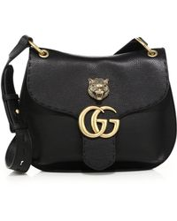 Gucci | Gg Marmont Medium Leather Shoulder Bag | Lyst