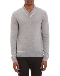 Michael Kors Folded Shawl Collar Sweater - Lyst