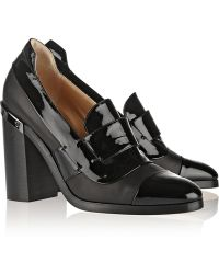 Reed Krakoff Metal-Trimmed Patent Leather Pumps - Lyst