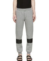 Kris Van Assche - Grey Painted Stripe Lounge Pants - Lyst