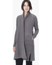 James Perse Boucle Cardigan - Lyst