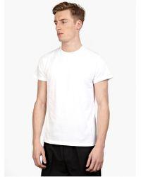 Jil Sander Men'S White Cotton T-Shirt - Lyst