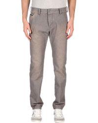 Diesel Denim Trousers gray - Lyst