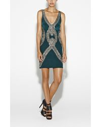 Nicole Miller Jeweled Necklace Dress - Lyst