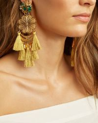 Mercedes Salazar - Fiesta Chandelier Earrings: Gold - Lyst