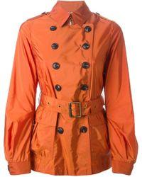 Burberry Brit - Short Trench Coat - Lyst