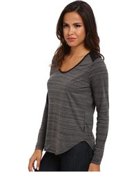 Calvin Klein Jeans Yd Space Dye Pu Trim Ls Shirt - Lyst