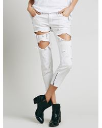 Free People | One Teaspoon Womens Free Bird Straight Leg | Lyst