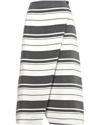 Whistles Hayley Stripe Wrap Skirt - Lyst