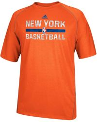 Adidas Mens New York Knicks Climalite Tshirt - Lyst