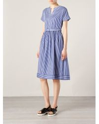 Antipodium - Striped Flared Dress - Lyst