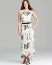 Twelfth Street by Cynthia Vincent Maxi Dress Embroidered Silk - Lyst