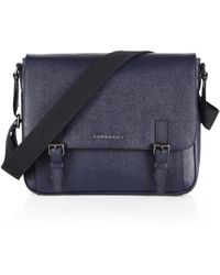 Burberry Grained Leather Messenger Bag blue - Lyst