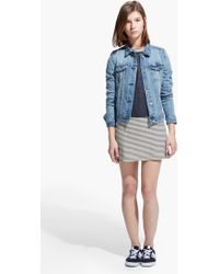 Mango Light Denim Jacket - Lyst