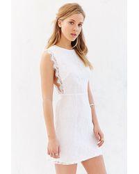 Kimchi Blue Pinafore Lace Mini Dress - Lyst
