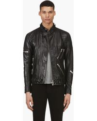 Surface To Air Black Lambskin Takashi Jacket - Lyst