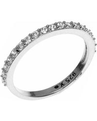 Judith Jack - Crystal And Sterling Silver Ring - Lyst
