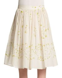 RED Valentino Daisy-print Voile Skirt - Lyst
