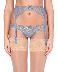 L'agent By Agent Provocateur Blue Iana Suspenders - Lyst