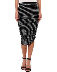 Splendid Striped Midi Skirt - Lyst