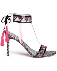 Sam Edelman Sadie' Aztec Pattern Snake Leather Sandals - Lyst
