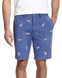 Polo Ralph Lauren Classic-Fit Embroidered Chino Shorts - Lyst
