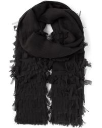 Dondup Fringed Scarf - Lyst