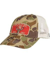 Polo Ralph Lauren Mesh Trucker Hat - Lyst