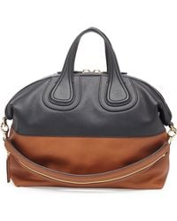 Givenchy Nightingale Medium Bicolor Satchel Bag - Lyst